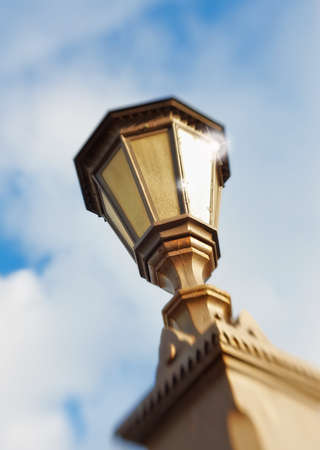 A photo of  Street lamp - lens blurred Stock Photo - 12308150
