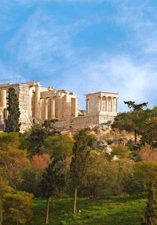 a photo of ancient acropolis, Parthenon , Athens, Greece photo