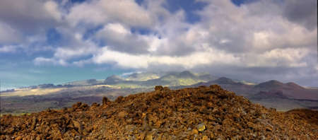 A photo of  Haleakala volcano in Maui from from below