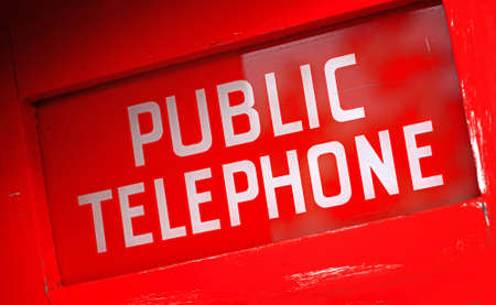A photo of a red public telephone (New Zealand) photo