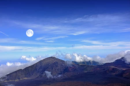 A photo  of the Haleakala volcano, Hawaii Foto de archivo