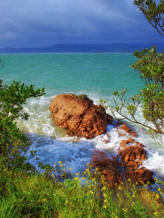 sea scenery: Landscapes of New Zealand - North Island