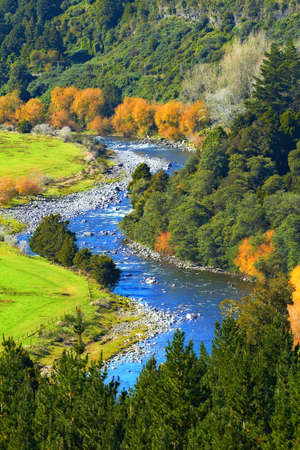 River scape from New Zealand Stock Photo