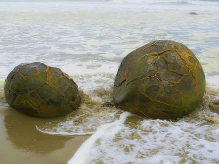 A photo of the Famous Moeraki Boulders, New Zealand Stock Photo - 12565002
