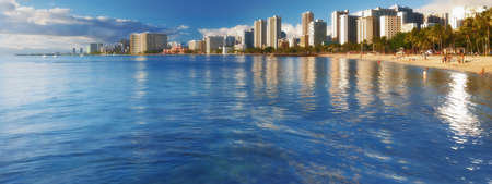 dominican republic: A photo of Waikiki at night