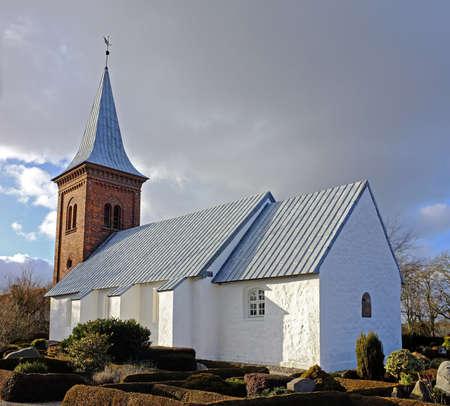 Ein Foto von einem dänischen Kirche