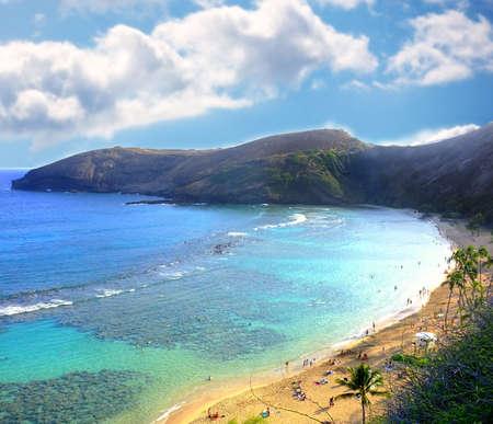 A photo beach of Oahu, Hawaii Stock Photo