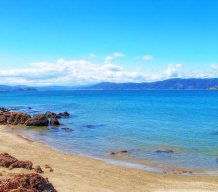 A photo of the famous Karaka Bay, North Island, New Zealand photo