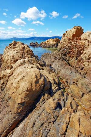 littoral: A photo of the famous Karaka Bay, North Island, New Zealand