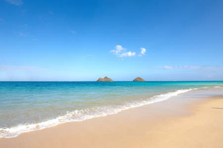 oahu: A photo of  beach of  Paradise - Lanikai Beach, Oahu, Hawaii
