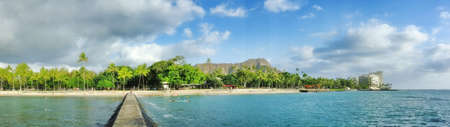 A photo of the beach of Waikiki, Honolulu, Hawaii Stock Photo - 13127762
