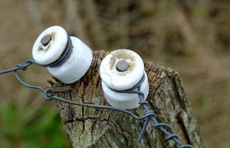 Una foto de un cerco el�ctrico Foto de archivo - 14636982