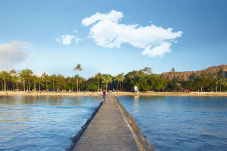 honolulu: A photo of Waikiki beach, Honolulu, Hawaii
