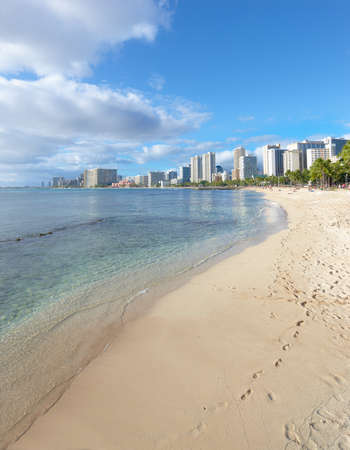 A photo of Waikiki beach, Honolulu, Hawaii photo