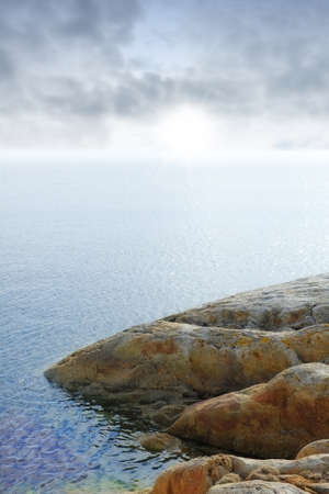 south coast: A photo of soft cliff coast of Norway, Bodo Stock Photo