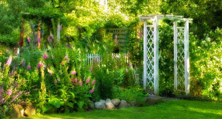 A photo of a colorful Danish summer garden photo