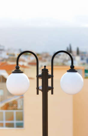 A photo of round white lamps photo