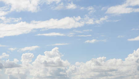 above the clouds: A photo of clouds and blue sky Stock Photo