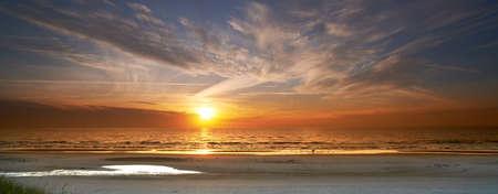 sunrise beach: a photo of sunset and beach