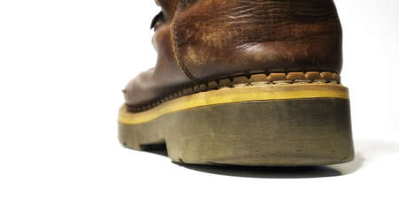 mens shoes: A photo of old boots