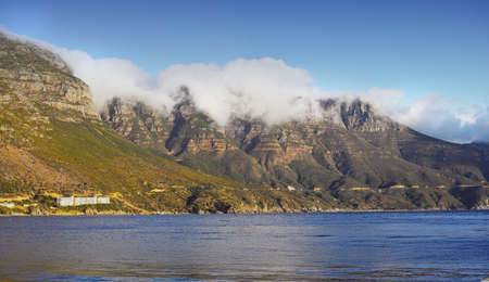 View of the twelve apostles mountain chain, Cape Town, South Africa photo