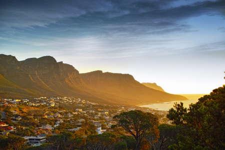 Blick auf die zwölf Apostel Bergkette, Cape Town, South Africa