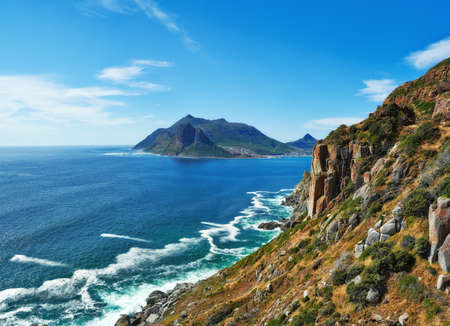 chapman: hout bay view from chapmans peak, Cape Town area, south africa