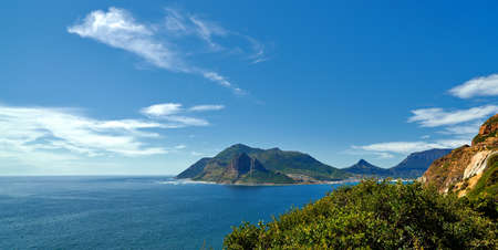 chapman: A vista of the coast and sea close to Cape Town,