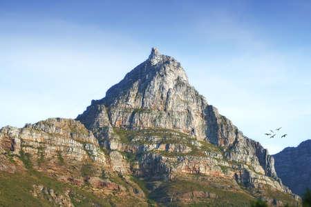 Ein Foto von Table Mountain, Cape Town, South Africa Standard-Bild