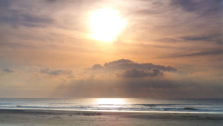 jutland: A photo of sunset at the  coastline of Jutland, Denmark Stock Photo
