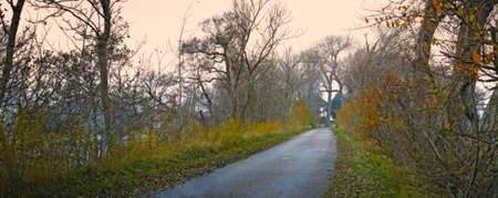 A photo of Road in autumn landscape Stock Photo - 17294227