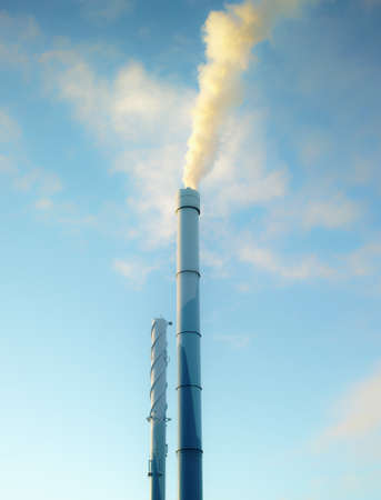 A photo of industrial chimney photo