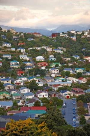 wellington: A photo of urban area of Wellington, New Zealand Stock Photo