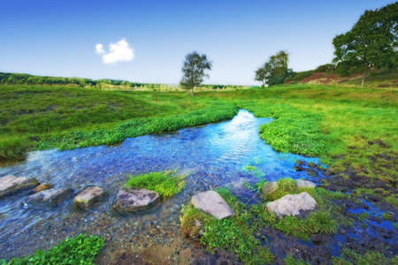 A photo of a small creek and lake Stock Photo - 17295147