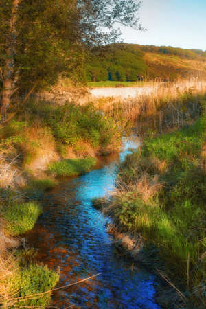 A photo of a small creek and lake Stock Photo - 17294202