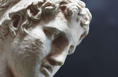 denker: Een foto van de Griekse filosoof - triest, diep, en enlighted