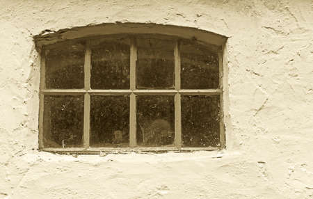 A photo of an old window in an old farmhouse Stock Photo - 17331244