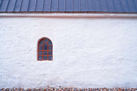 A photo of an old window in an old farmhouse photo
