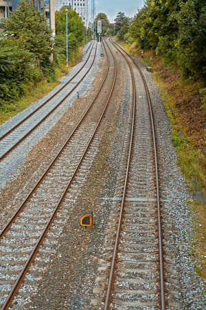 A photo of railway tracks Stock Photo - 17328532