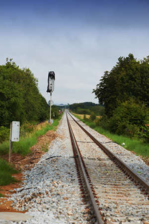 A photo of railway tracks photo