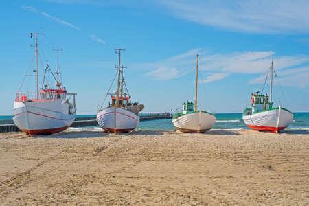 fishery: A photo of Fishing boat on the beach, Jutland, Denmark