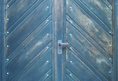 A photo of a very old blue door - Church Stock Photo - 17328826