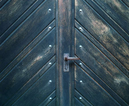 A photo of a very old blue door - Church Stock Photo - 17328843