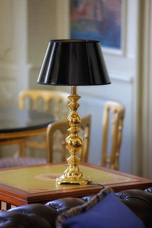 aglow: a photo of a lamp