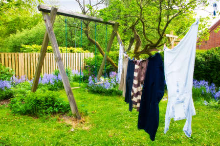 a photo of laundry hanging outdoor photo