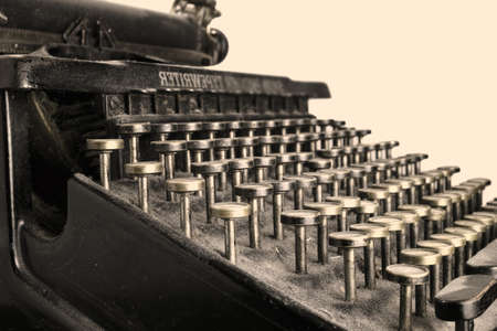 antique key: A photo of an antique typewriter from 1917 Stock Photo