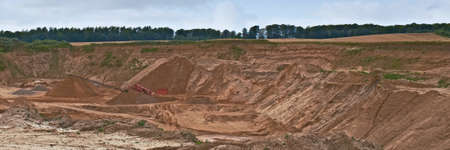 gravel pit: A photo of a huge gravel pit