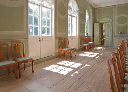 manor house: A photo of a chairs in an old historical house