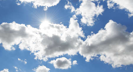 skyscape: A photo of clouds and blue sky Stock Photo
