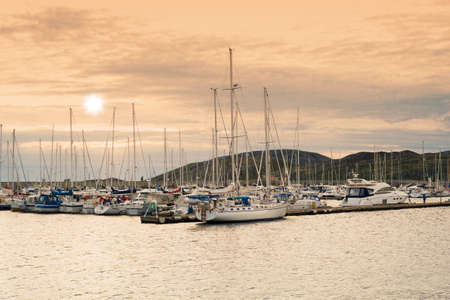 Sailboats in the harbor of Bodo, north of the Polar Circle. Stock Photo - 17368654